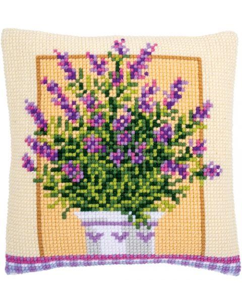 Vervaco borduurkussen lavendelpot pn-0172863
