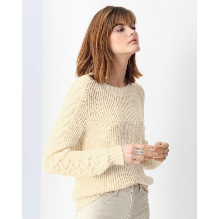 Phildar dames trui met kabel over de mouw breien van Phil