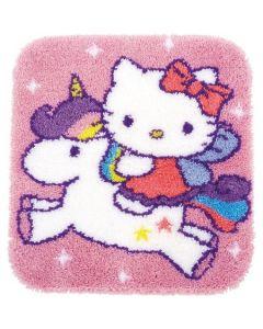 Knooppakket knoopkleed Hello Kitty op unicorn van Vervaco PN-0153316