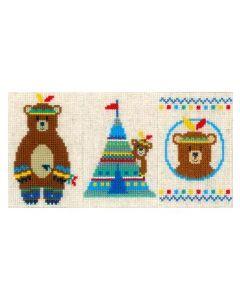 Indianen beer borduurpakket