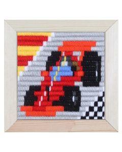 Borduurpakket kinderen Raceauto in spansteek pako 079.734