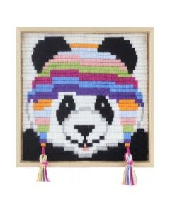Borduurpakket kinderen panda in spansteek pako 085.755
