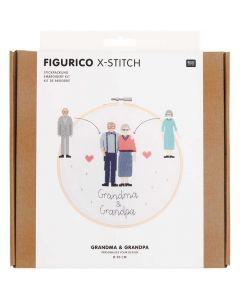 Borduurpakket oma en opa van rico Design 100109 incl borduurring