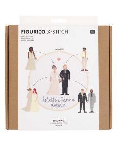 Borduurpakket huwelijk van rico Design 100117 incl borduurring