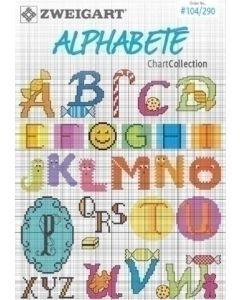 Borduurboekje alfabet no.104/290  van zweigart