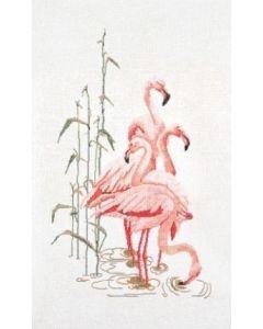 Borduurpakket Flamingo van Thea Gouverneur aida 1070