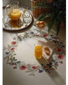 Borduurpakket tafelkleed bloemenkrans van Eva Rosenstand 12-1187