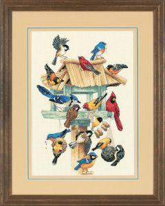 Borduurpakket vogelhuisje borduren van Dimensions  13683