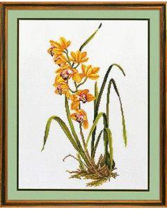 Eva Rosenstand borduurpakket gele orchidee 14-156 borduren