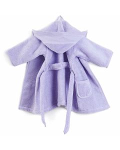 Rico Design baby badjas met aida rand op capuchon in lila  140021