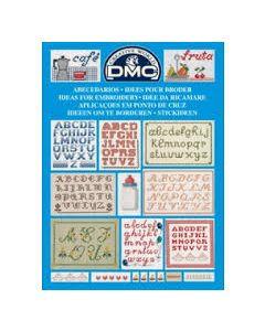 Borduurboekje met abc van Dmc