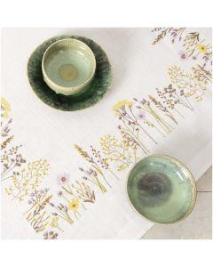 Voorbedrukt tafelkleed kruidenweide Rico Design 150100 borduren 90x90cm