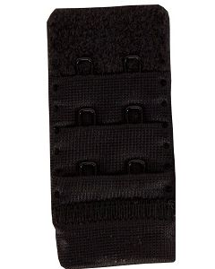 BH Verlengstuk zwart,38mm breed, 2 haaks