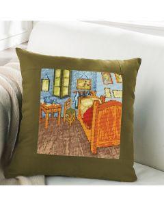 Borduurpakket kussen Dutch Masters Van Gogh de slaapkamer met telpatroon simy's studio