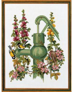 Borduurpakket  waterpomp van Eva Rosenstand 74-135 op linnen