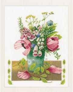 Lanarte borduurpakket zomerboeket van marjolein Bastin PN-0021195