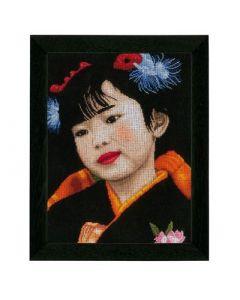 Lanarte borduurpakket Japanese girl pn-0021214