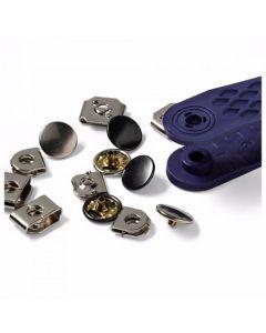 Prym broekhaken en staafjes, 13mm zilver/brons 4 stuks