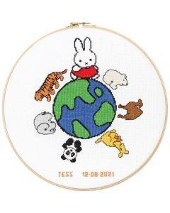 Geboortetegel Nijntje en de wereld: Tess van dick bruna 276-054