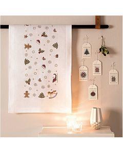 Borduurpakket voorbedrukte loper kerst decoratie van Rico 31201.52.12