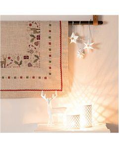 Rico Design borduurpakket voorbedrukt  tafelkleed met kerst geschenken 31205.54.21