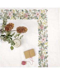 Voorbedrukt tafelkleed kerstgroen Rico Design 31255.52.21 borduren 95x95cm