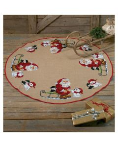 Borduurpakket kerstkleed kerstman op de noordpool Permin 45-7269