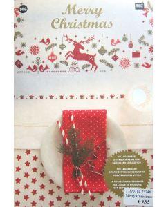 Borduurboek Merry Christmas van Rico Design No.146.