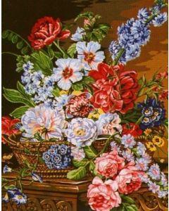 Margot voorbedrukt canvas / stramien bloemenzee om te borduren 134.5126