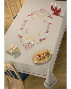 Voorbedrukt tafelkleed egelen van Permin 58-0682R excl  garen