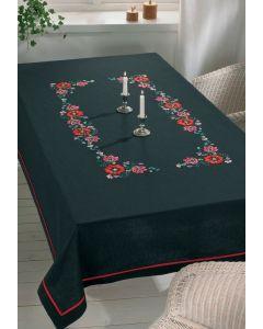 Voorbedrukt tafelkleed bloemen van Permin 58-2960R