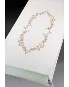 Voorbedrukt tafelkleed bloemen van Permin 58-3641R