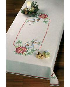 Voorbedrukt tafelkleed kerstdorp van Permin 58-4695r