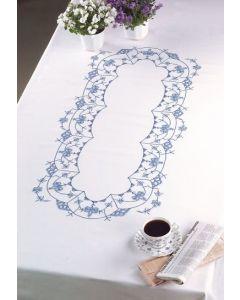 Voorbedrukt tafelkleed blauw van Permin 58-6655R