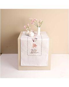 Borduurpakket voorbedrukte loper tulpen en orchideen van Rico 67399.54.18