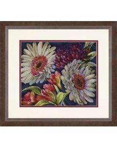 Borduurpakket fantastische bloemen borduren van Dimensions  gold collection 70-35399