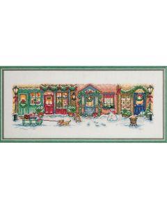 Permin borduurpakket kerststraat om te borduren 90-8210