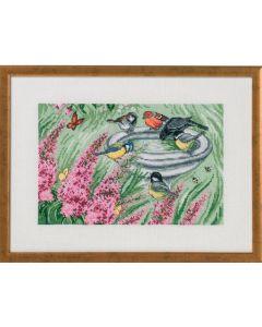 Permin borduurpakket vogelhuisjes om te borduren 90-9396