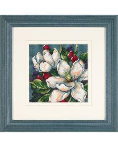 Voorbedrukt borduurpakket magnolias van Dimensions  7217