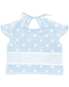 Baby slab met mouwtjes en aida rand om te borduren blauw met stippen Rico Design 740245.76