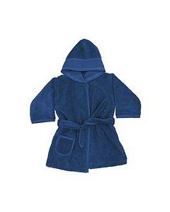 Rico Design baby badjas met aida rand op capuchon in donker blauw 740263.00
