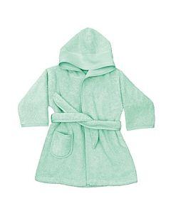 Rico Design baby badjas met aida rand op capuchon in mint groen 740266.00