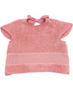 Baby slab met mouwtjes en aida rand om te borduren donker roze Rico Design 740272.76