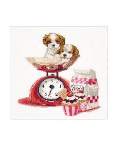 Borduurpakket Cupcake Puppy  van Thea Gouverneur 741