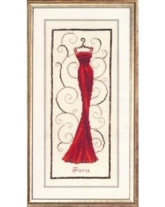 Vervaco borduurpakket rood avondkleed om te borduren
