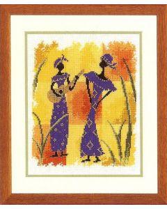 Vervaco borduurpakket afrikaanse dans