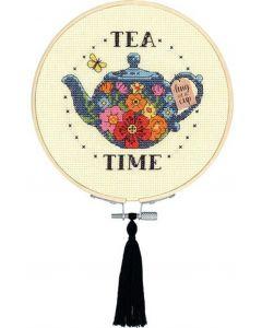 Borduurpakket tea time  borduren van Dimensions 72-76291 incl. borduurring