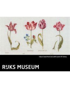 Borduurpakket Thea Gouverneur Tulips of Jacob Marrel and Judith Leyster 16th Century Rijks museum