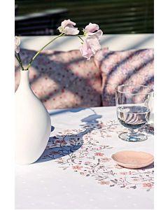 Borduurpakket tafelkleed met telpatroon  bloesem Rico design  80136.52.21