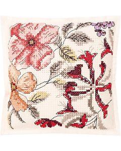 Borduurpakket vilten kussen bloemen om te borduren Rico 80161.52.78